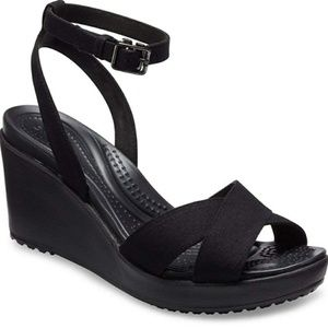 Crocs Leigh Adjustable Ankle Strap Wedge Sandals